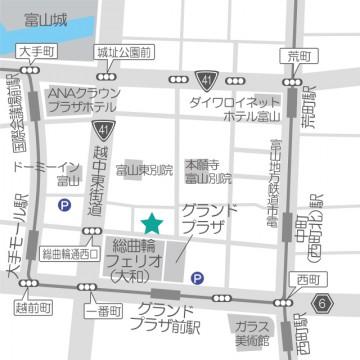 富山店の道案内