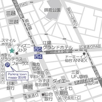 仙台店の道案内