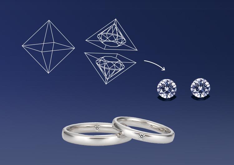 Two-as-one Diamond
