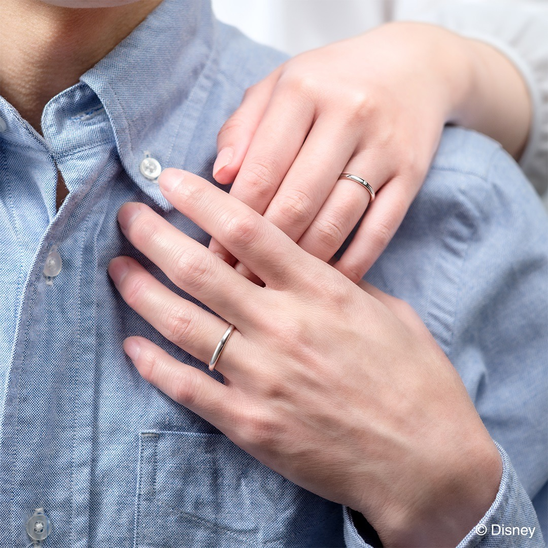 美女と野獣結婚指輪の着用