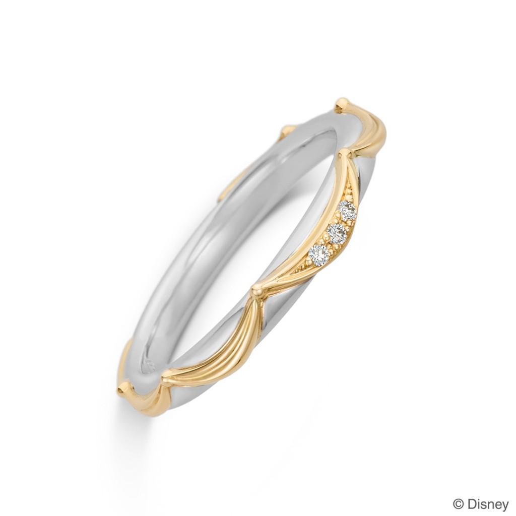 美女と野獣の女性用結婚指輪