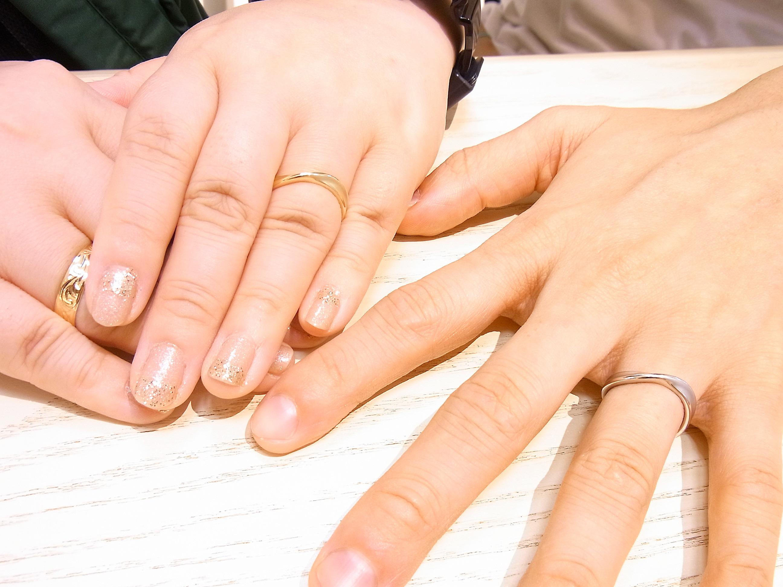 お客様結婚指輪着用写真