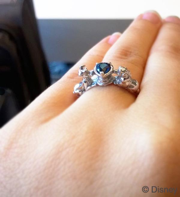 オーダーメイド婚約指輪着用