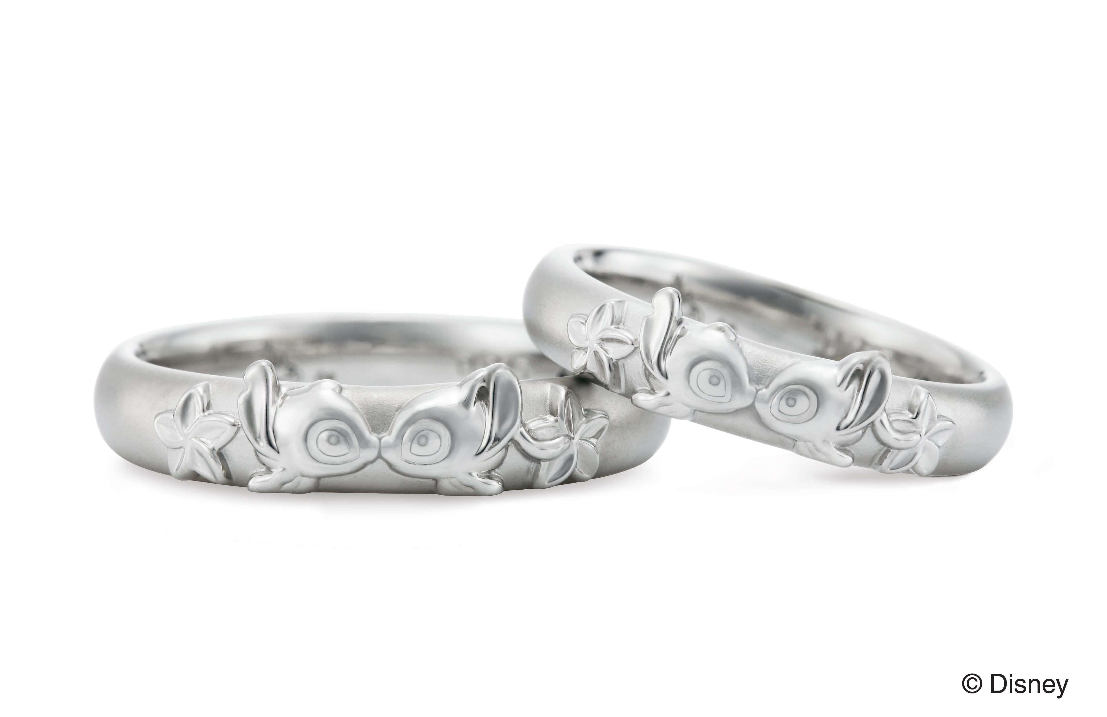 スティッチデザインの結婚指輪