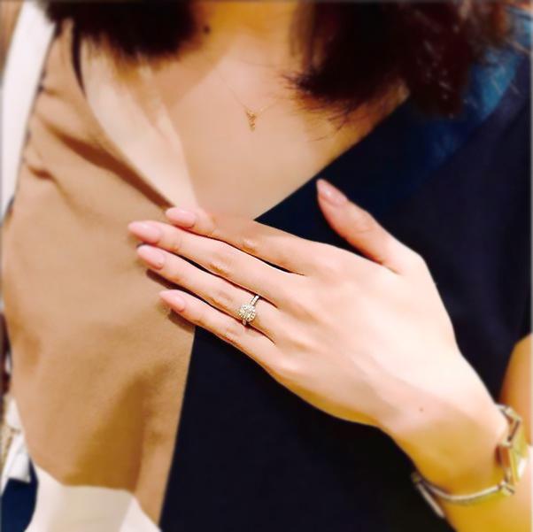 ラディアントカット_婚約指輪2