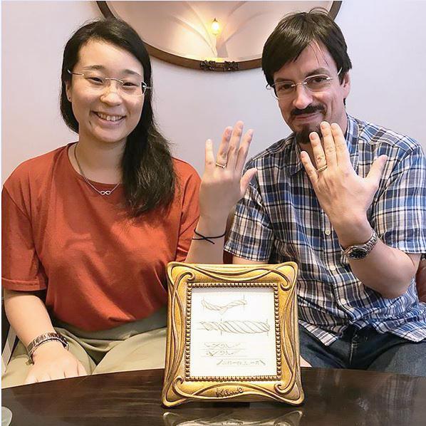 オーダーメイド結婚指輪_しめ縄3