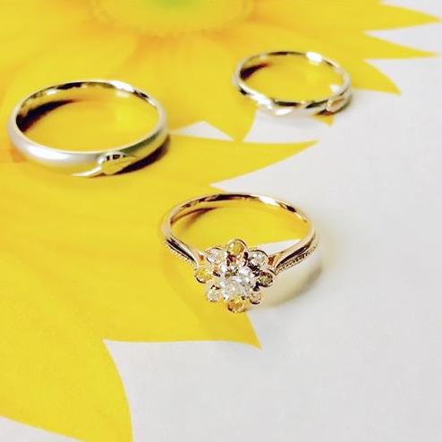 ひまわり_婚約指輪_結婚指輪