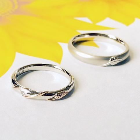 ひまわり_婚約指輪_結婚指輪3
