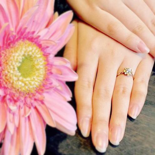ひまわり_婚約指輪_結婚指輪4