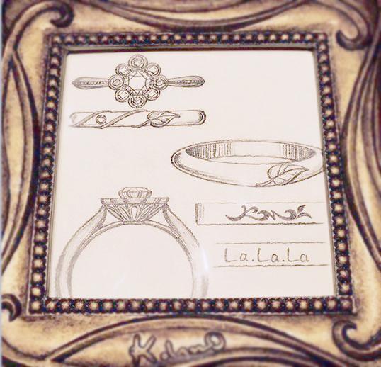ひまわり_婚約指輪_結婚指輪6