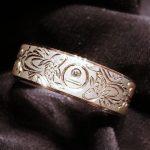 結婚指輪_家紋_タガネ彫り2