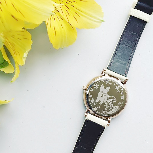 カスタム腕時計1_犬モチーフ