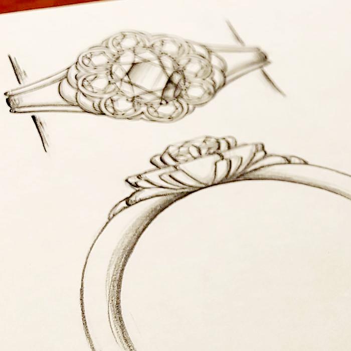 リフォーム_指輪_デザイン画