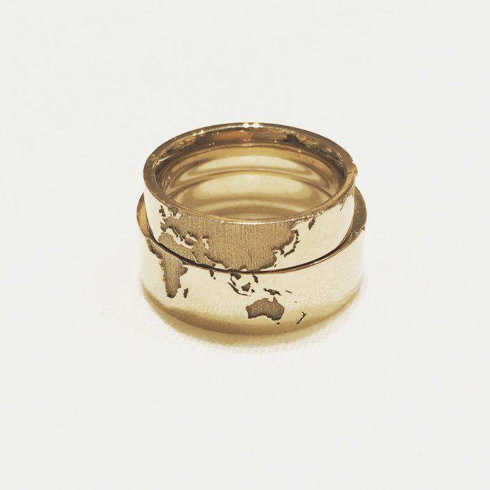 世界地図_結婚指輪1