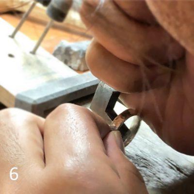 結婚指輪手作り_DIY体験様子6