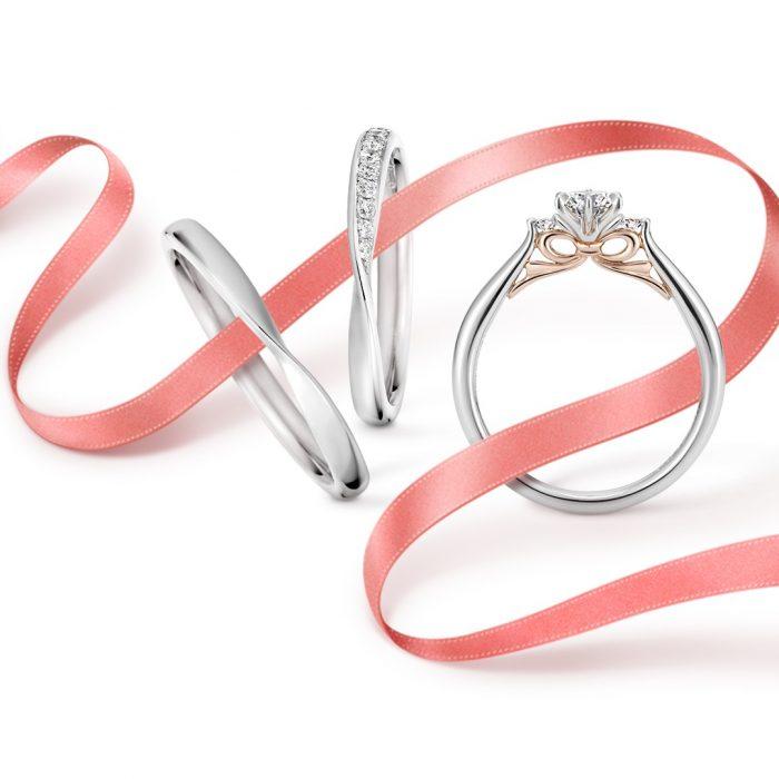 リボン_結婚指輪_婚約指輪