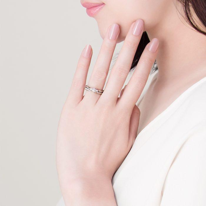 結婚指輪_婚約指輪_重ねづけ