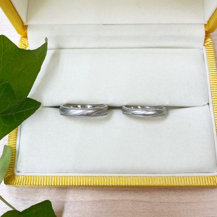 木目金_結婚指輪