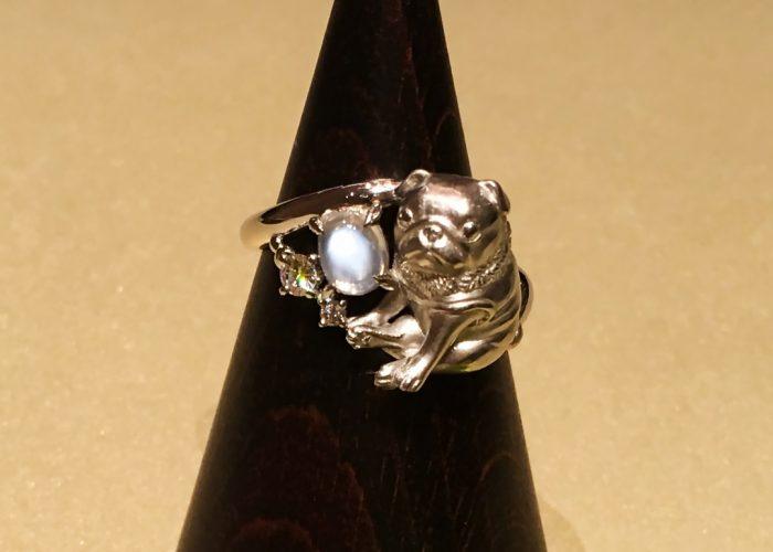 ペットの遺骨を内側に埋め込んだ指輪(横浜)1