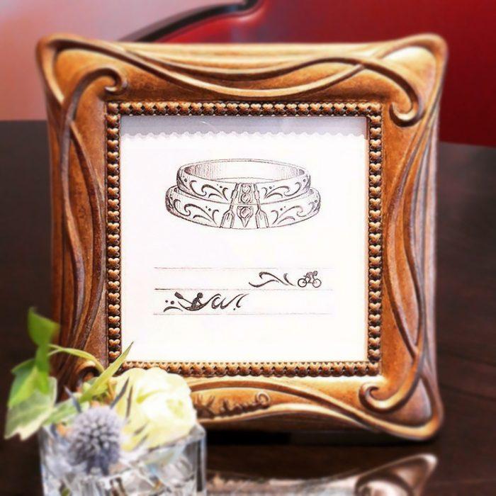 オーダーメイドの結婚指輪デザイン画