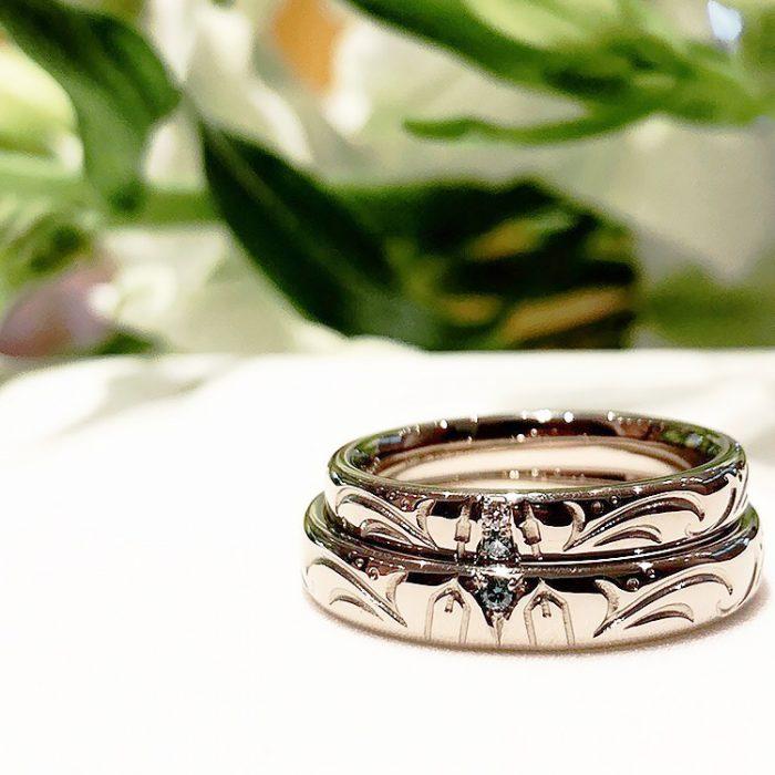 ボートをモチーフにしたオーダーメイド結婚指輪