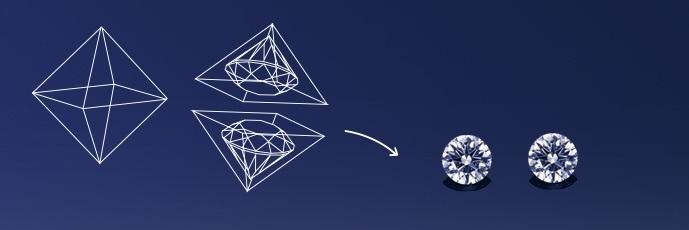 双子のメレダイヤモンド