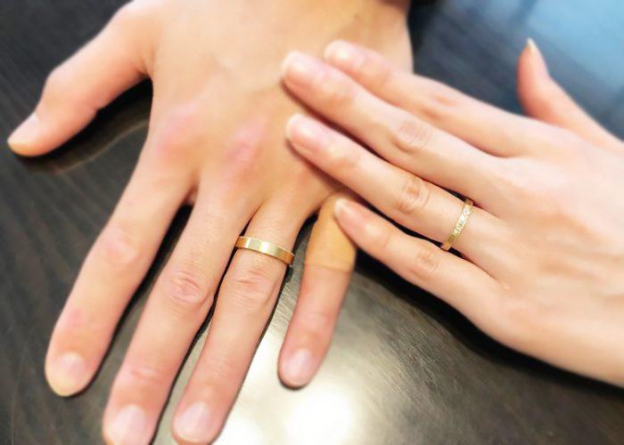 結婚指輪お客さま着用