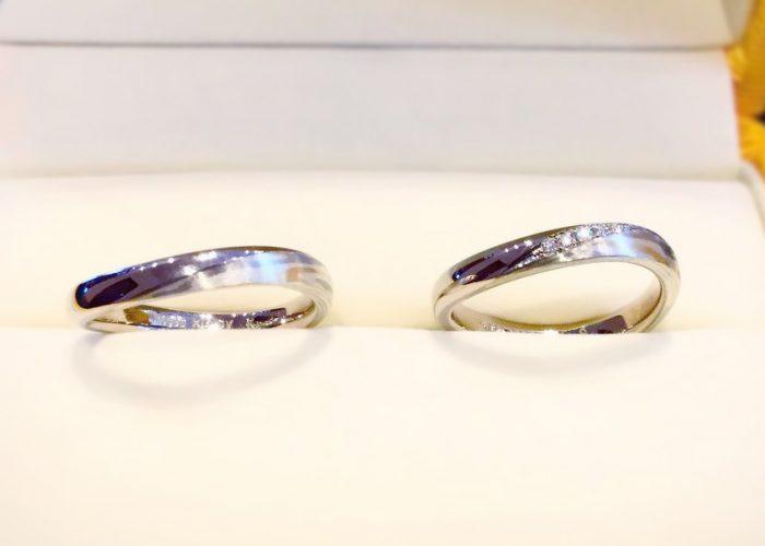 木目金の結婚指輪2