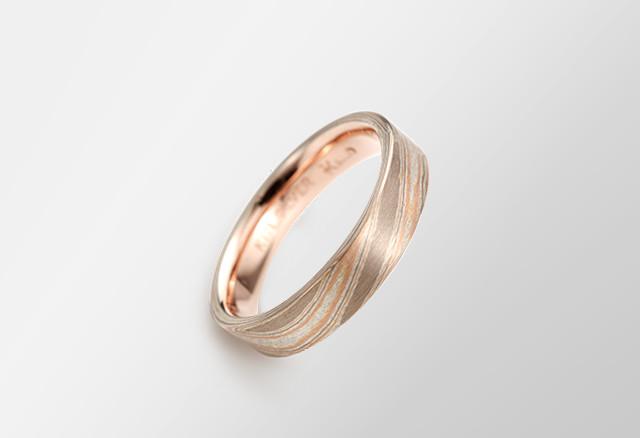 木目金の指輪
