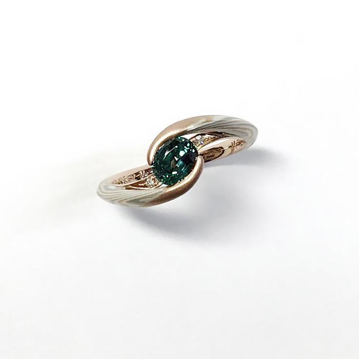 木目金の婚約指輪