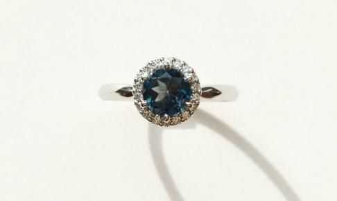 ブルートパーズ婚約指輪
