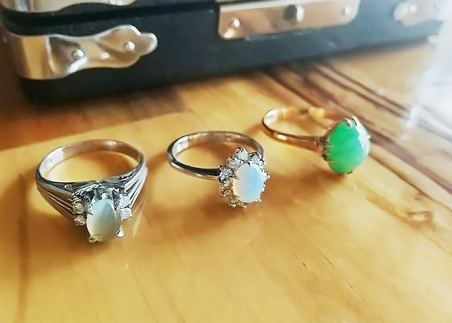 リフォーム前の3本の指輪