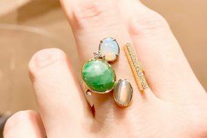 3本の指輪を一つにしたリフォームリング1